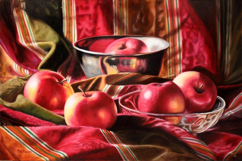 still life with apples painting