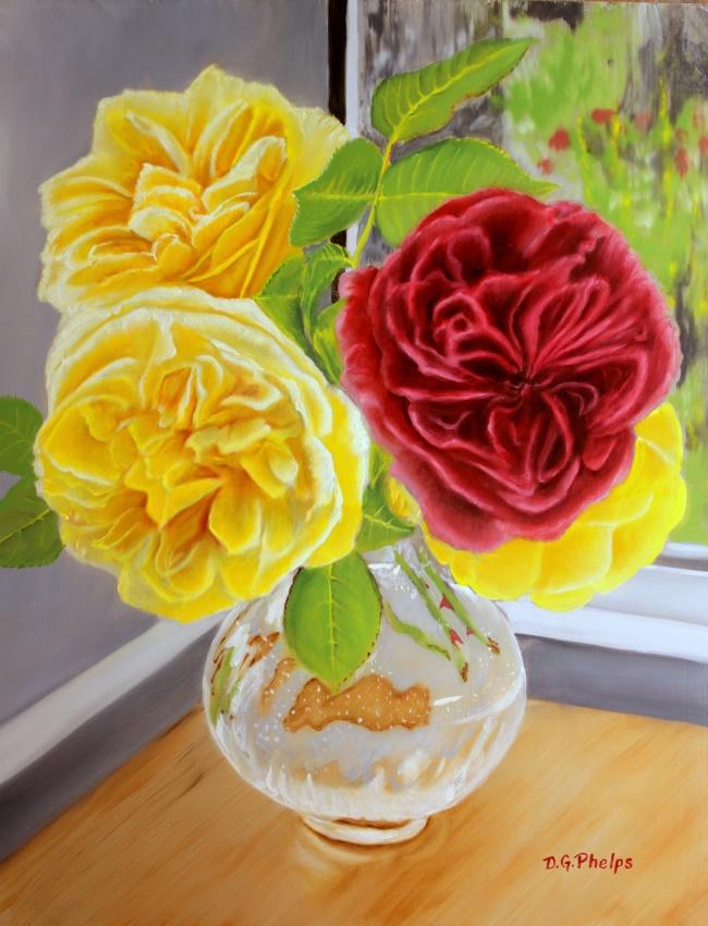 florabunda roses art