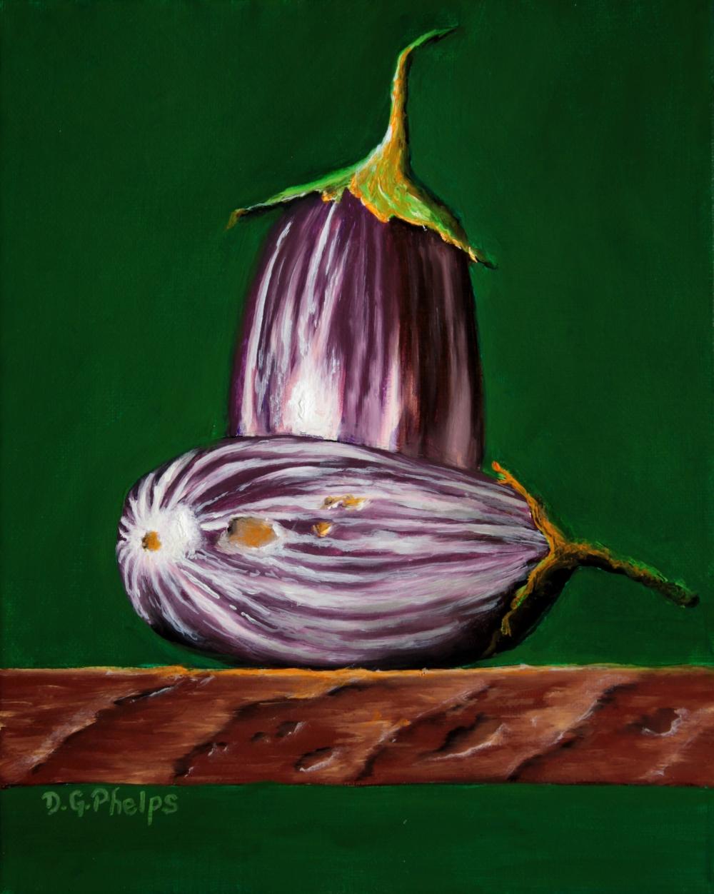 purple eggplant art