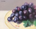 plate of grapes oil painting
