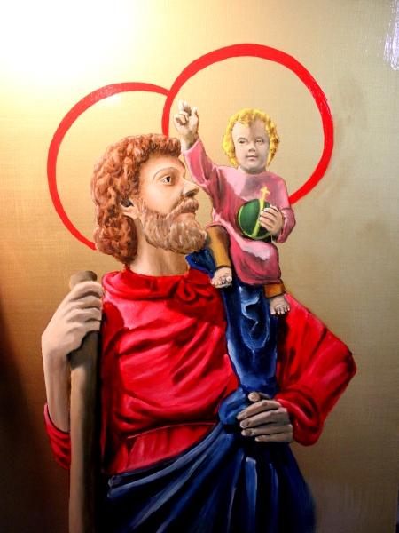 Saint Christopher painting