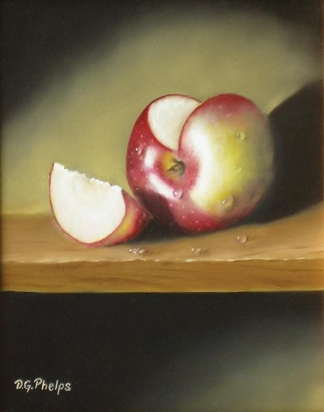 apple slice painting