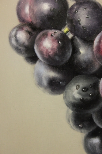 purple grapes oil painting demonstration