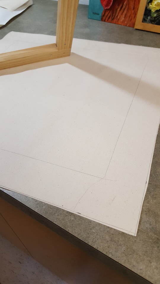 cutting canvas for stretchers