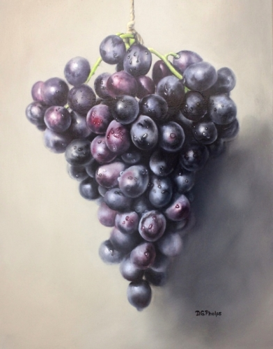 grapes oil painting