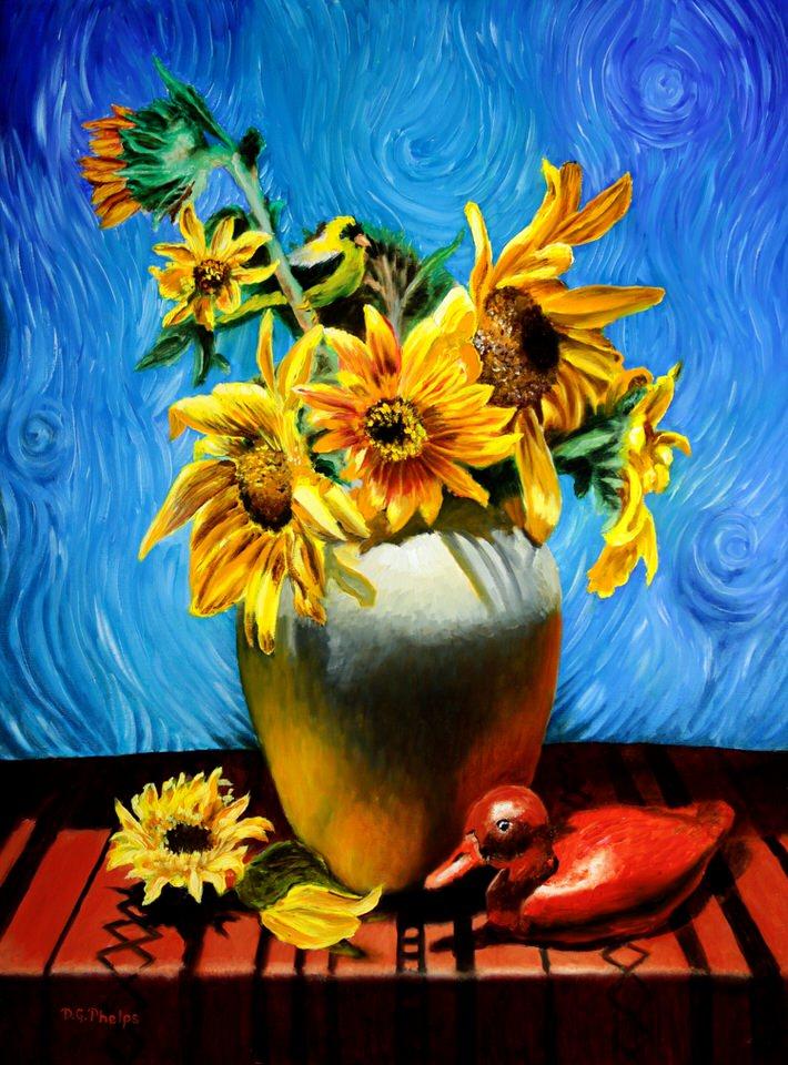 van gogh sunflower painting