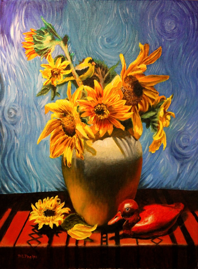 van gogh sunflower