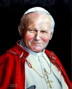 St. Pope John Paul II portrait painting