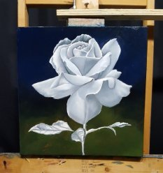 grisaille underpainting completed