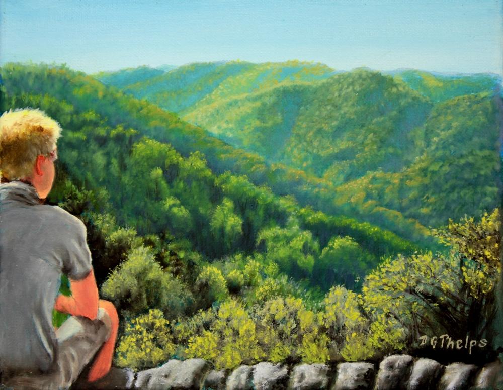 crabtree falls landscape painting
