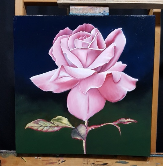 color layer completed for rose
