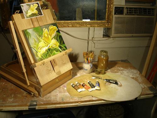 free art lessons, alla prima lesson