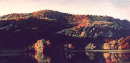 landscape painting, lake painting
