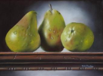 painting techniques, oil painting, pears still life painting, still life