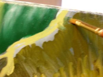 blending paint for rose