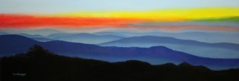 blue ridge mountain art