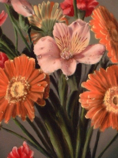 Painting Of Flower Bouquet