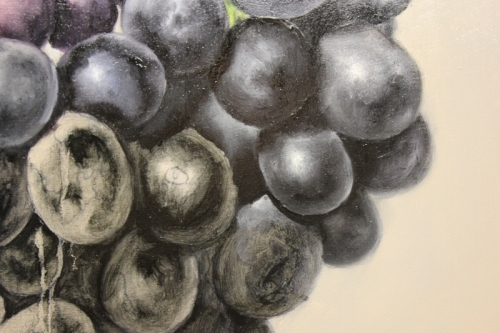 how to paint purple grapes
