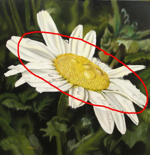 oil painting tips, daisies