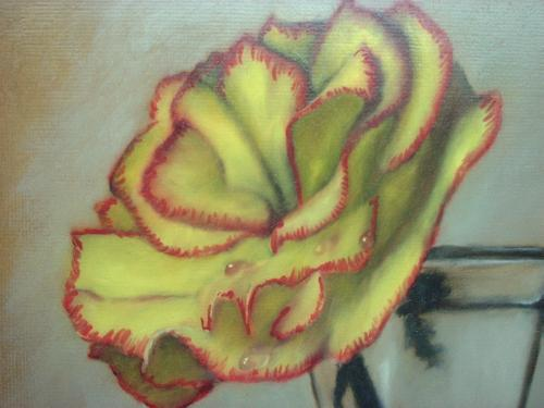 rose painting demo