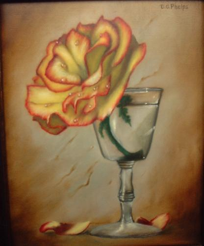 yellow rose painting demo