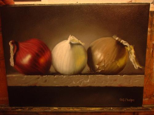 red onion painting