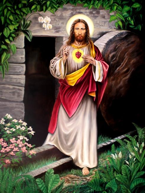 Resurrected Jesus Oil Painting