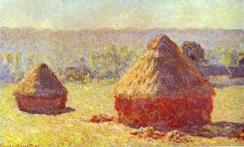 monet haystacks morning