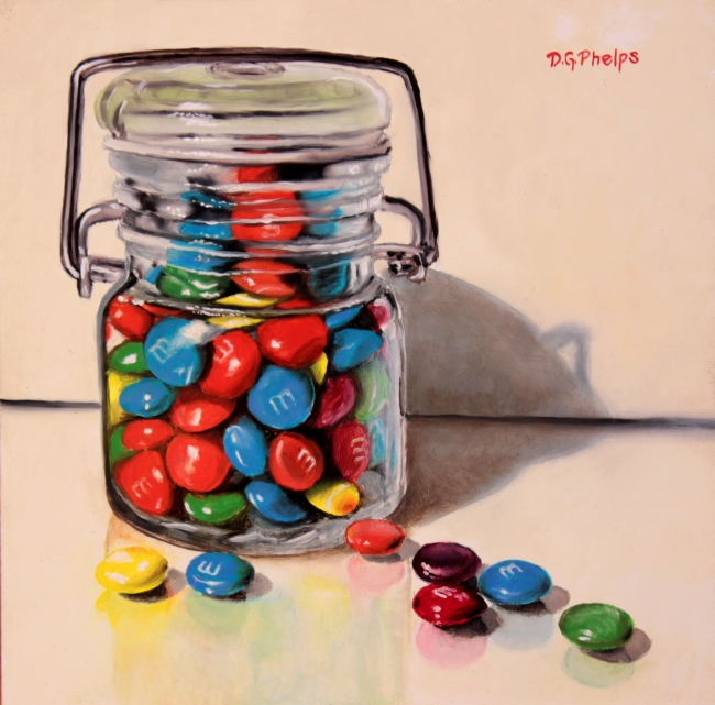 M&M candy painting