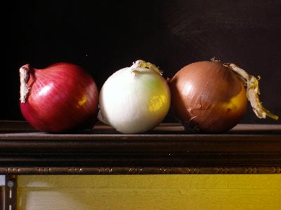 Still life onions oil painting demonstration part 1 for Set painting techniques