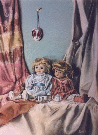 antique dolls painting