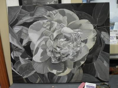 graiselle of peony oil painting