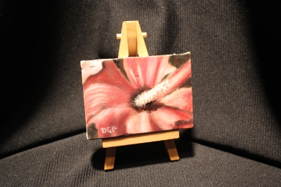 miniature painting on easel