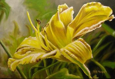 alla prima lily painting