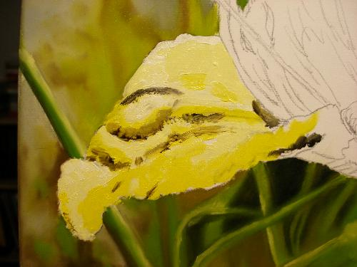 yellow lily painting
