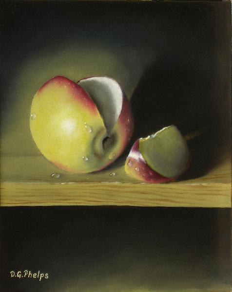 apple oil painting, red apple oil painting