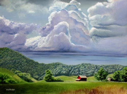Bath County storm painting - Learn These Landscape Oil Painting Techniques