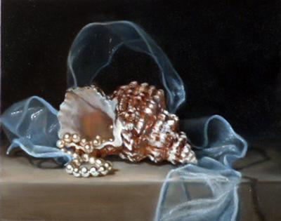 Sea Shell oil painting, titled: