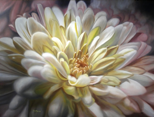 golden chrysanthemum painting
