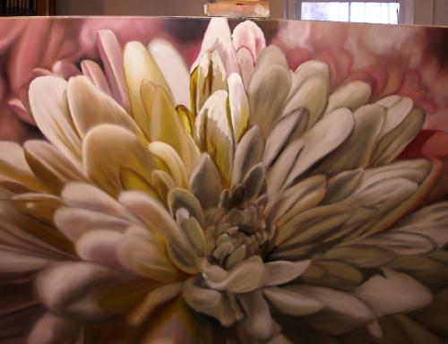 chrysanthemum flower painting