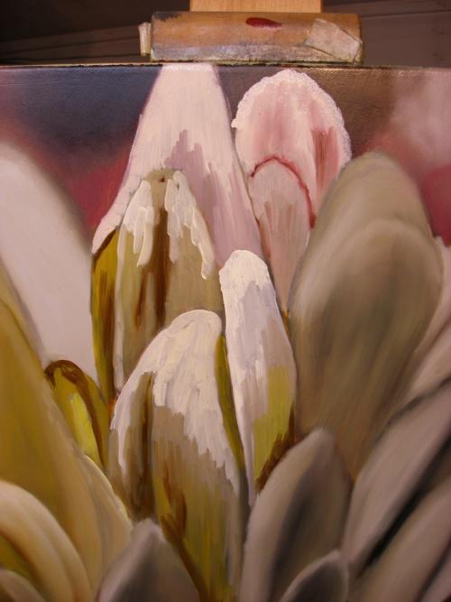 flower petals painting