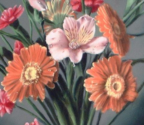 gerber daisy painting