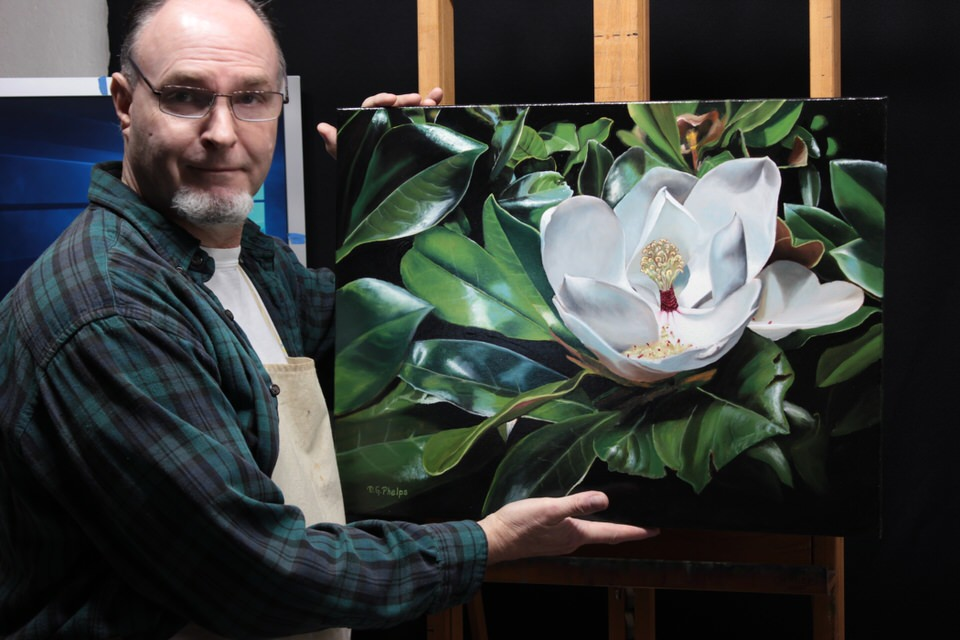 Magnolia Flower painting titled Magnolia Glory