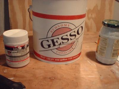 gesso types, canvas preparation