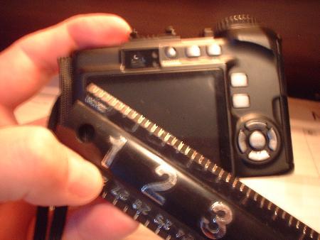 digital camera view size