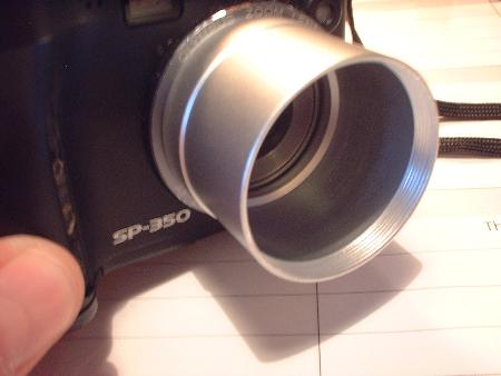 lens adaptor attached to camera