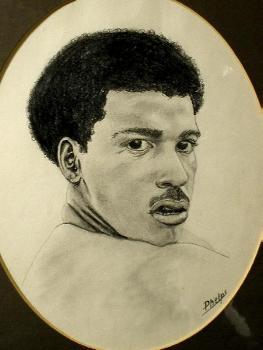 pencil portrait of young man