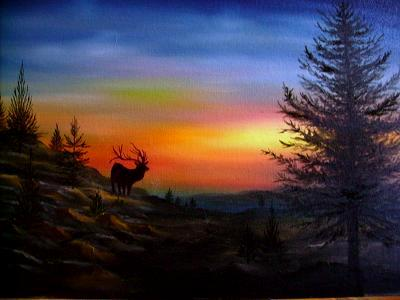 Wild life oil paintings for Easy oil painting tutorial