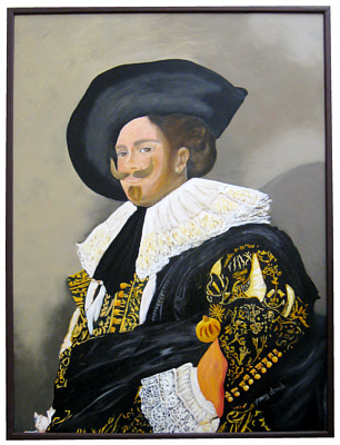 Laughing Cavalier portrait painting