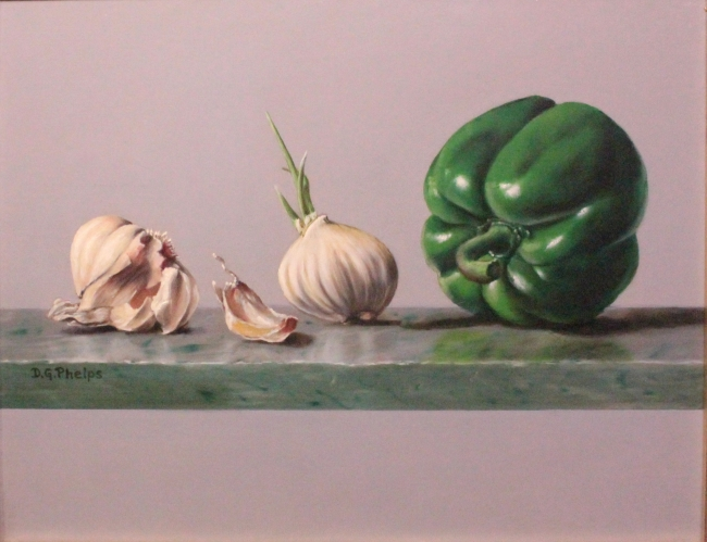 Garlic and Pepper painting